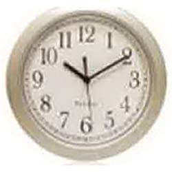 Westclox NYL Holdings 46984 Simplicity 8-Inch Round Wall Clock, Silver - Quantity 6