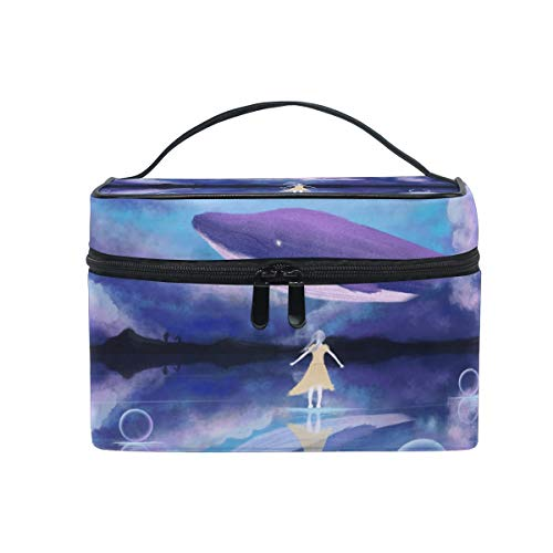 Travel Cosmetic Bag Fantasy Fairyland Sea Whale Toiletry Makeup Bag Pouch Train Tote Case Organizer Storage For Women Girls from LvShen