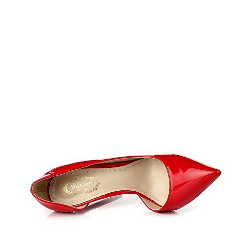 UK Mariage Rouge 12cm Court 7 Chaussures Discothèque Sexy Mode Chaussures Hauts 40 Party Femmes Red Travail EU De Femme Talons zwAFUz