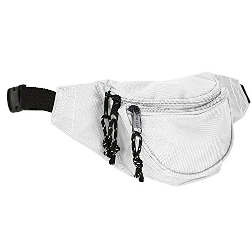 DALIX Small Fanny Pack Waist Pouch S XS Size 24 to 31 in Whi