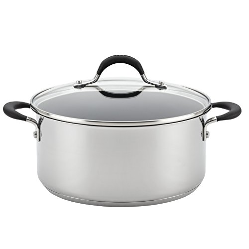 Circulon Momentum Stainless Steel Nonstick 5-Quart Covered Dutch Oven (Lid Casserole With Circulon)