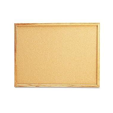 UNV43602 - Cork Board with Oak Style Frame