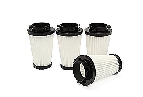 Green Label 4 Pack Replacement HEPA Filter F2 for Dirt Devil Vacuum Cleaners (Compares to 3SFA11500X). Fits: M08245, M084100, M084600, M08245X, and More