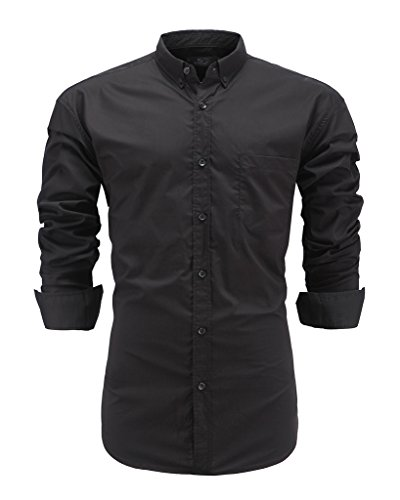 Solid Button Down Dress Shirt - 4