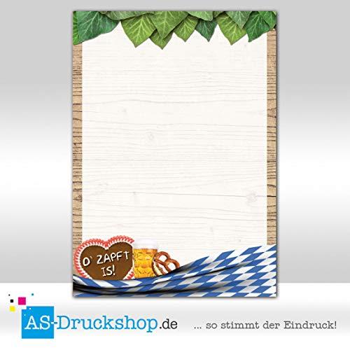 Holzrahmen wei/ß-blau 90 g-Offsetpapier Designpapier Oktoberfest 100 Blatt//DIN A5