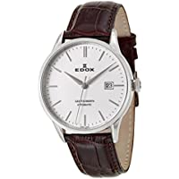 Edox Les Vauberts Men's Automatic Leather Watch