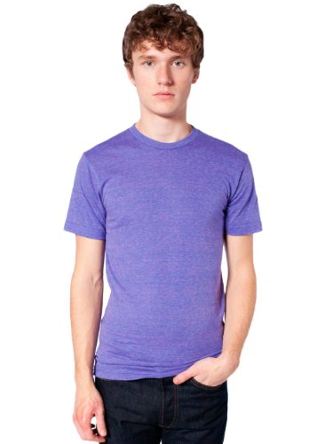 American Apparel Unisex Tri-Blend Short Sleeve Track Shirt - Tri-Orchid / M ()