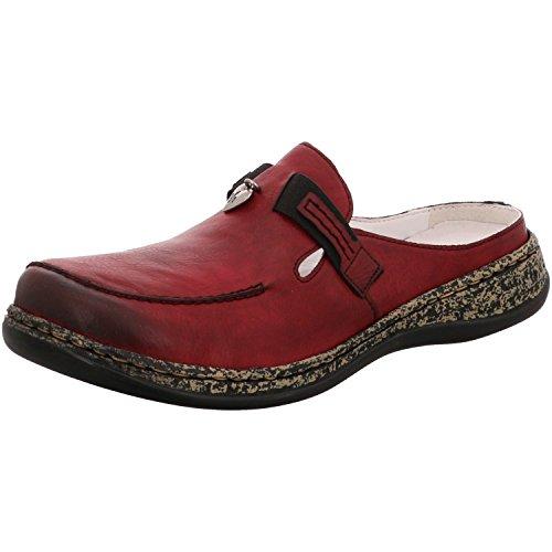 Rieker Damen Clogs Rot, Schuhgröße:EUR 39