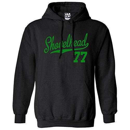 Shirt Boss Unisex Shovelhead 77 Script & Tail HOODIE 2XL Black / Green