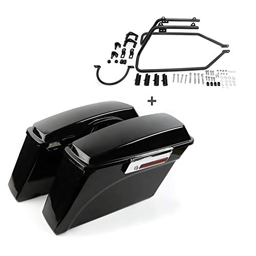 Craftride Hard saddlebags with mounting brackets for Harley Sportster Forty-Eight 48 10-13