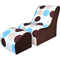 KEET Modern TV Kids Chair, Blue Bubbles