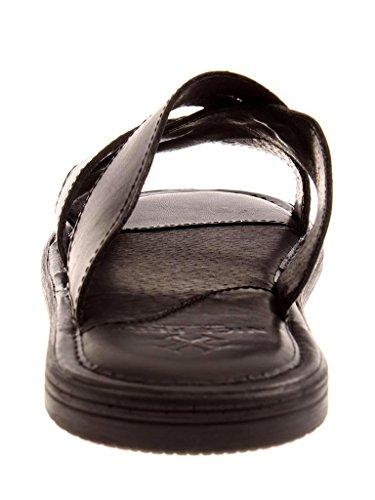 Hausschuhe Pantolette Schlappen Lederpantolette Fee Leder Nice 0022 schwarz qtOwTpa