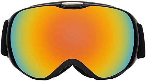 子供用スキーゴーグルUV保護/恒久的な防曇/防風スノーモービルスノーボードマウンテンユース,黒