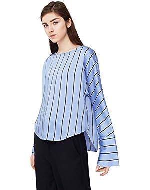 Mango Women's Flowy Striped Blouse