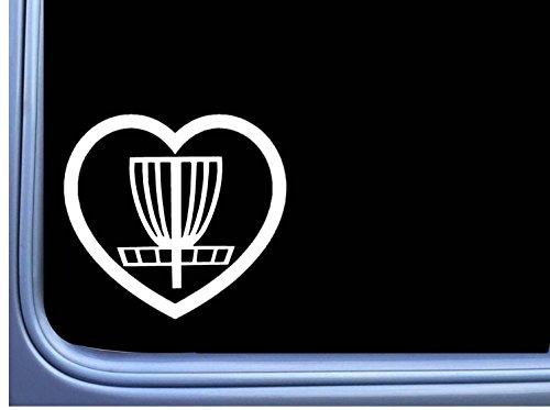 Disc Golf Big Heart L774 6 inch Sticker putter driver basket Decal