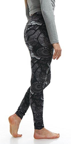 LMB Lush Moda Extra Soft Leggings with Designs- 505YF Floral Abstract Yoga by LMB (Image #5)