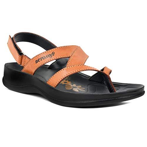 Aerosoft Arch Supportive Deke, Kumo, Tuck & Zeus Style Sandals (US 06 = EU 37 07, Deke - Tan)
