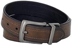 Levi's Men's Levis 40MM Reversible Belt With Gunmetal Buckle, Brown/Black, 34