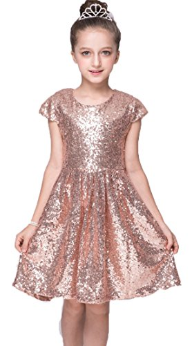 Shiny Toddler Little/Big Girls Shiny Sequins Birthday Party