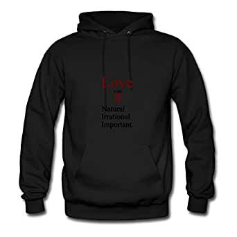 Personalized Love And Pi Cotton Women Vogue X-large Hoody Black