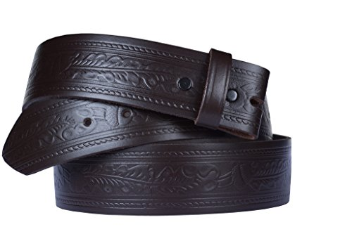 Belt for Buckles 100% Top Grain One Piece Leather, 1.5