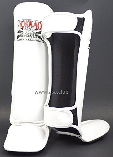 YOKKAO Shin Guards BASIC White MUAY THAI KICKBOXING KARATE