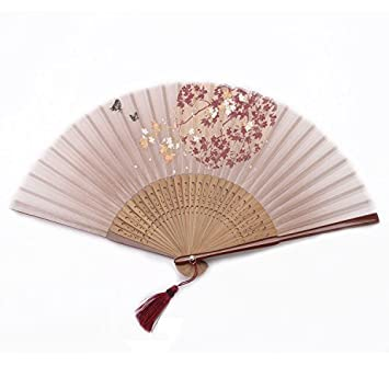 amazon com ouly silk fan chinese fan chinese style fan box