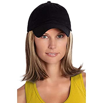 18d8474c673 Amazon.com   Henry Margu (Classic Hat Black) - Synthetic Baseball Cap Wig  in 27AH   Beauty