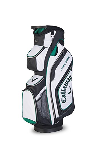 Callaway 2016 Chev ORG Cart Trolley Golf Bag 14-Way Divider White/Black/Green
