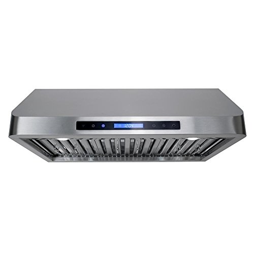Cosmo QS75 30in UnderCabinet Range Hood 900CFM  Ducted  Ductless Convertible Duct  Wireless Kitchen Stove Vent with LED Light  3 Speed Exhaust  Fan Timer Permanent Filter  Stainless Steel