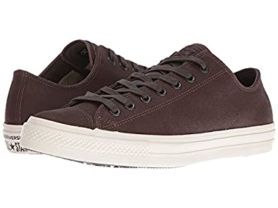 03870c0e6042 Converse by John Varvatos Chuck Taylor All Star II Coated Leather Ox  Brown Turtledove (