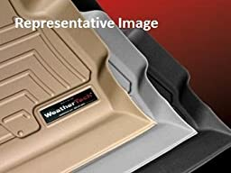 2009-2012 Ford F-150 Grey Front FloorLiner vehicles with two retentiion posts (not hooks) on driver\'s side; vehicle with optional no flow through center console; Does not fit vehicles with manual 4x4 transfer case