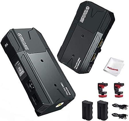 Hollyland Mars 300 Pro Sistema de transmisión de Video inalámbrico 5G, Antena incorporada, Rango de transmisión de 300 pies, con Cable HDMI y Kit de ...