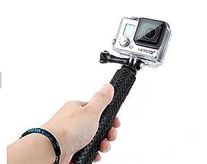 "New handheld monopod pole Float Selfie Pole Extendable Floating for GoPro Hero 2 3 3 3+ 4, GoPro Hero4 Session ,36"" (Black) EASYTOP"