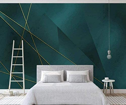 Hxcok カスタム3D壁画壁紙光の幾何学的な豪華なラインの背景の壁シンプルな北欧装飾的な絵画-130X80cm
