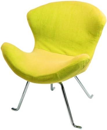 Walker Edison Ultra Soft Wing Chair, Lemon, Set of 2