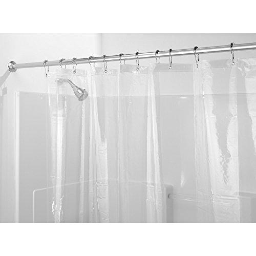 InterDesign Mold and Mildew-Resistant EVA 5.5 Gauge Shower Curtain Liner, 72