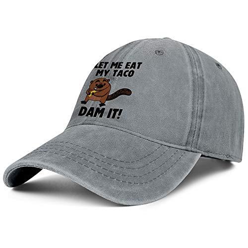 Oregon Beaver Taco Denim Baseball Hat Unisex Men's Casual Adjustable Mesh Visor Flat Cap -