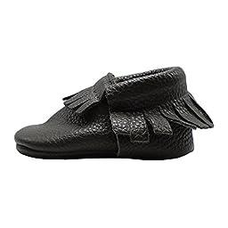 Mejale Baby Soft Sole Leather Tassel Slip-on Infant Toddler Baby Shoe Pre-walker