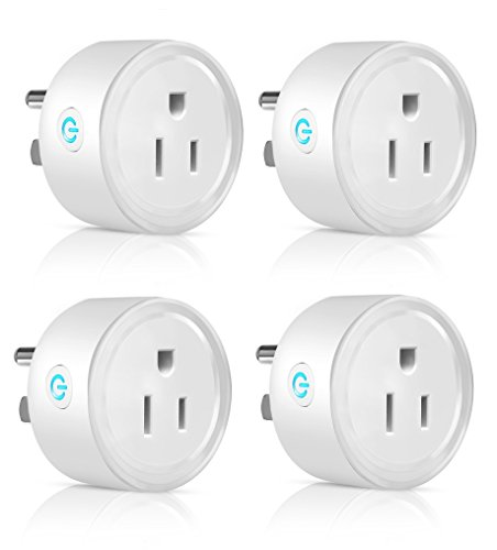 Mini Smart Plug WiFi Enabled,Wireless Outlet, Amazon Alexa Compatible, Google home Assistant Compatible, No Hub Required, Timing Function, Remote Control Smart Home Device 4 Pack by Heart Beat