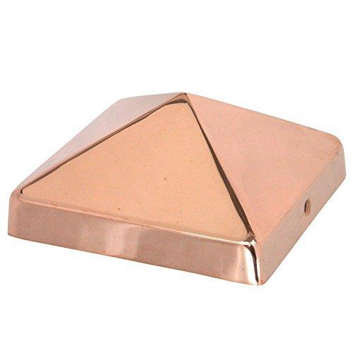6x6 Copper Pyramid Post Cap by Captiva - Extended Lip - Soli