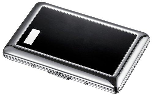 Visol Jaret Black Cigarette Case - Holds 7 Regular - Single Case Cigarette Sided