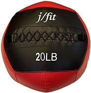 j/fit Medicine Ball, Wall Ball, CrossFit & Plyometrics Ball Various Size Options Available - 4, 6, 8, 10,