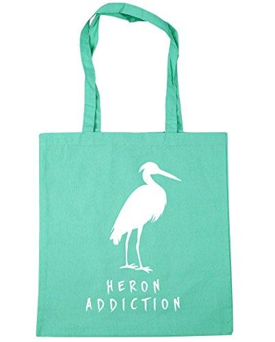 x38cm 42cm litres Shopping 10 HippoWarehouse Tote Gym Beach Mint Heron Addiction Bag 1xAwnq08Ov
