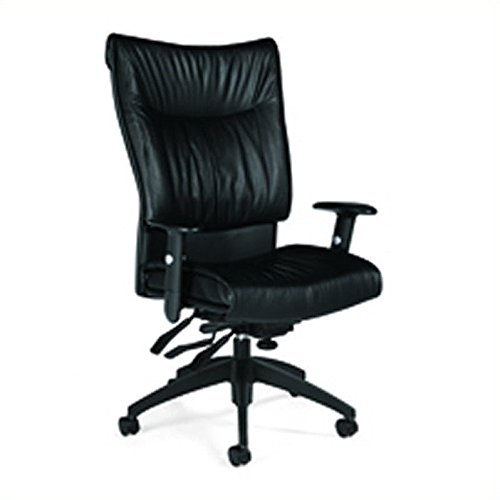 (Global Softcurve Leather High-Back Multi-Tilter Executive Chair, 45 1/2