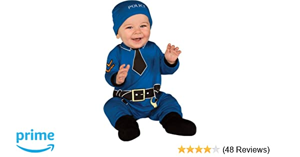 Hat and Booties Rubies Costume Babys First Halloween Policeman 1 Piece Jumper
