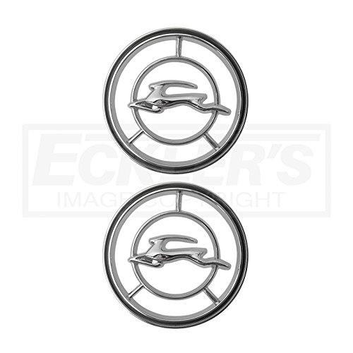 Eckler's Premier Quality Products 40137319 Full Size Chevy Front Fender Emblems Impala (Chevy Impala Front Fender Emblems)