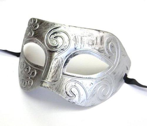 Shot-in Retro Roman gladiator Halloween party masks man woman children Masquerade mask (Halloween Gladiator Accessories)