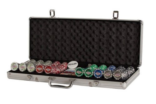 500 Game Piece Poker (Poker Set In Aluminum Case With 500 (11.5 Gram) Las Vegas Style Chips)