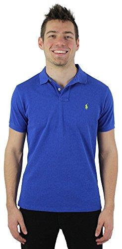 Polo Ralph Lauren Men's Custom Fit Mesh Polo Shirt Blue Size XL